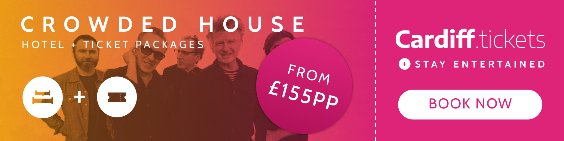 Crowded House tickets and hotel package