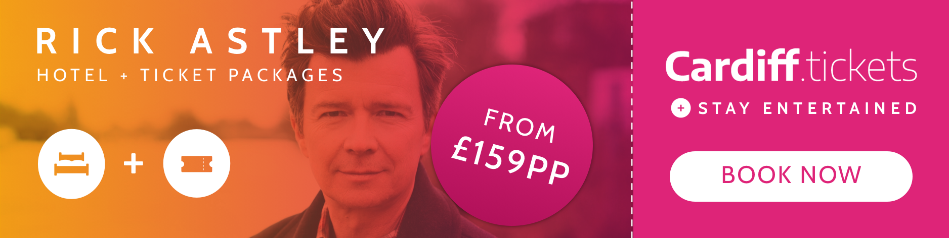 Rick Astley tickets and hotel package