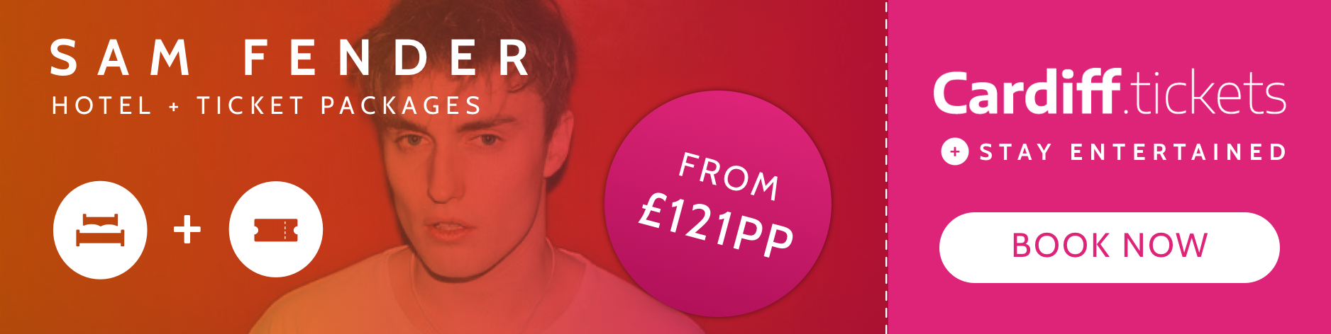 Sam Fender tickets and hotel package