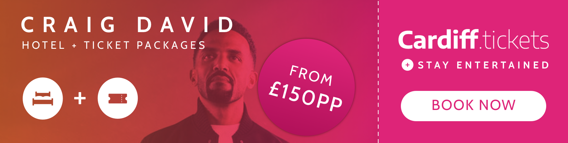 Craig David tickets and hotel package