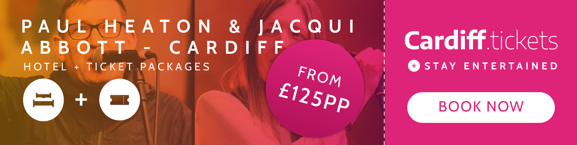 Paul Heaton & Jacqui Abbott- Cardiff tickets and hotel package