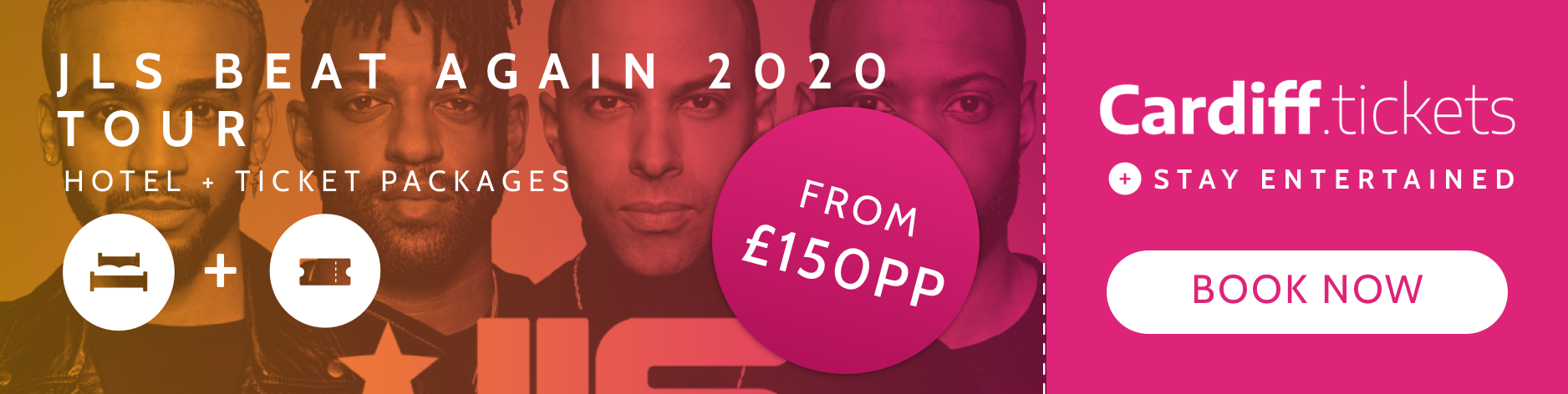 JLS Beat Again 2020 Tour tickets and hotel package