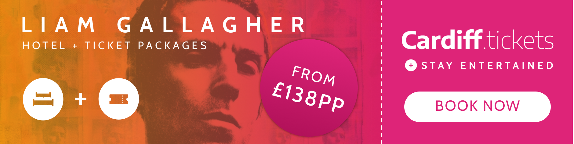 Liam Gallagher tickets and hotel package