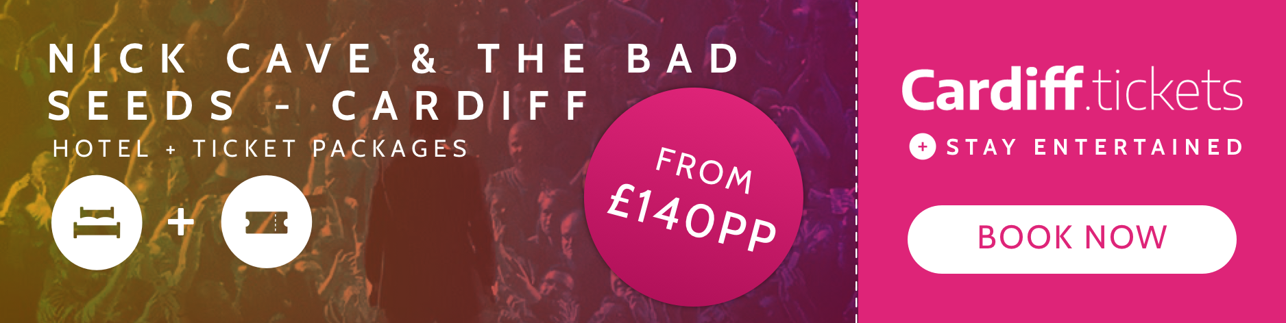 Nick Cave & the Bad Seeds- Cardiff tickets and hotel package